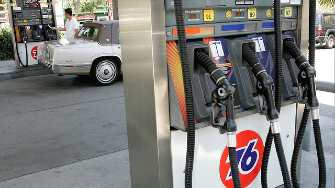 Gas prices in 2015 95 cents lower than 2014