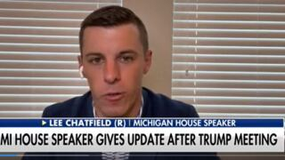 """Michigan House Speaker says President Donald Trump didn't ask Republican lawmakers to """"break the law"""" or """"interfere"""" with the election"""