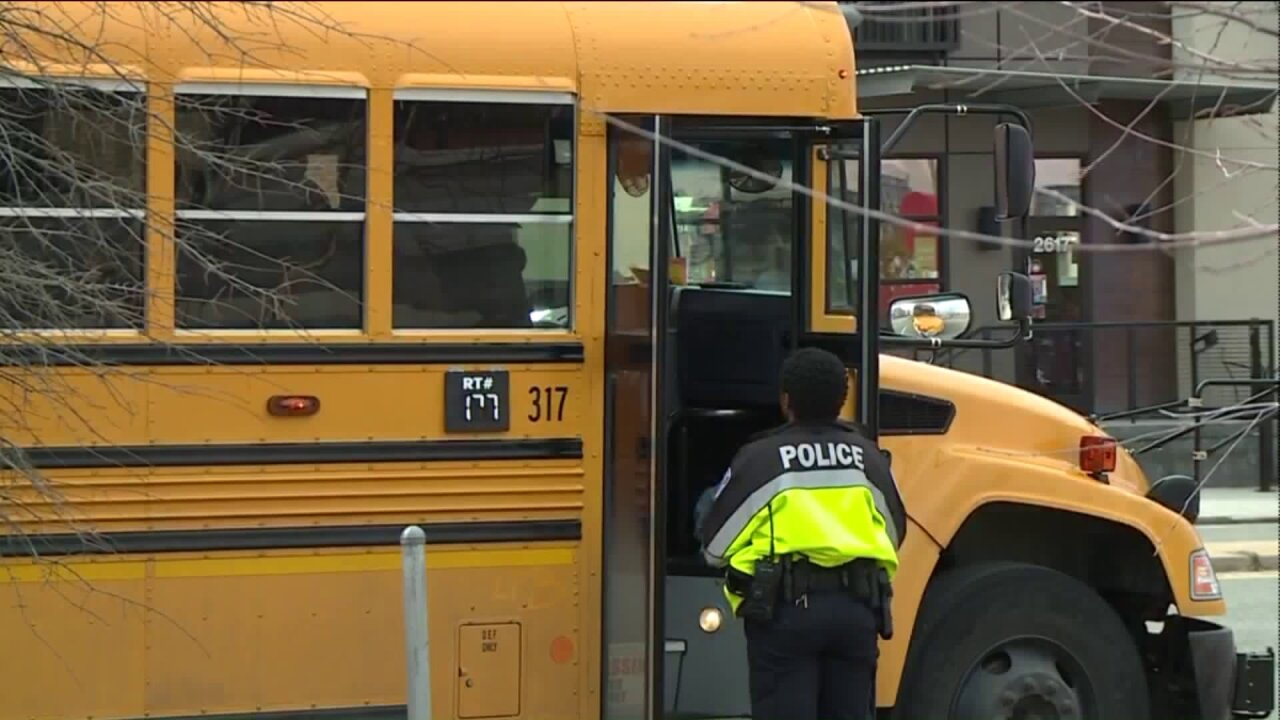 School bus involved in Broad Streethit-and-run
