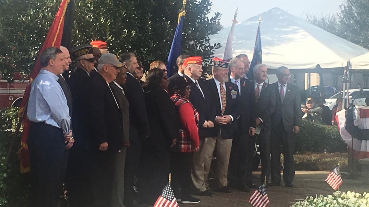 Senator Tim Kaine delivers keynote address at Veterans Day ceremony inChesapeake