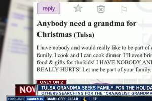 """Grandma"" looking for family to spend the holidays with"