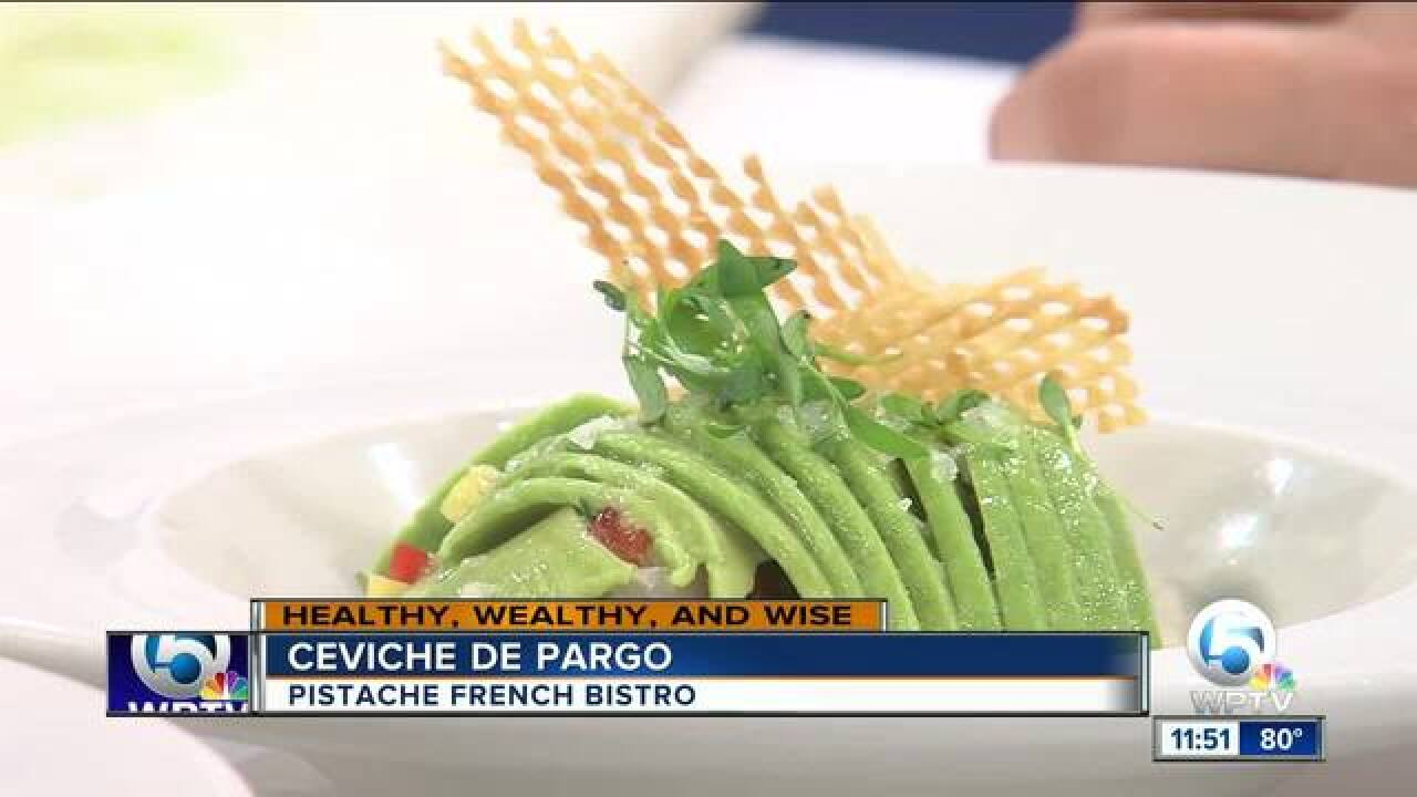 Snapper ceviche recipe from Pistache French Bistro