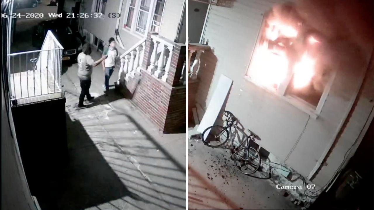 Flatlands home burns down because of fireworks