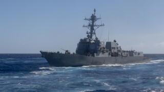USS Kidd (DDG 100) transits the Pacific Ocean