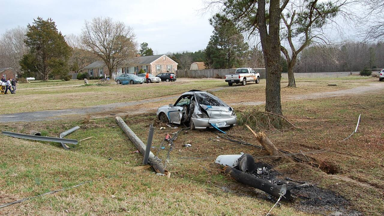 Man flown to the hospital after Dinwiddie crash