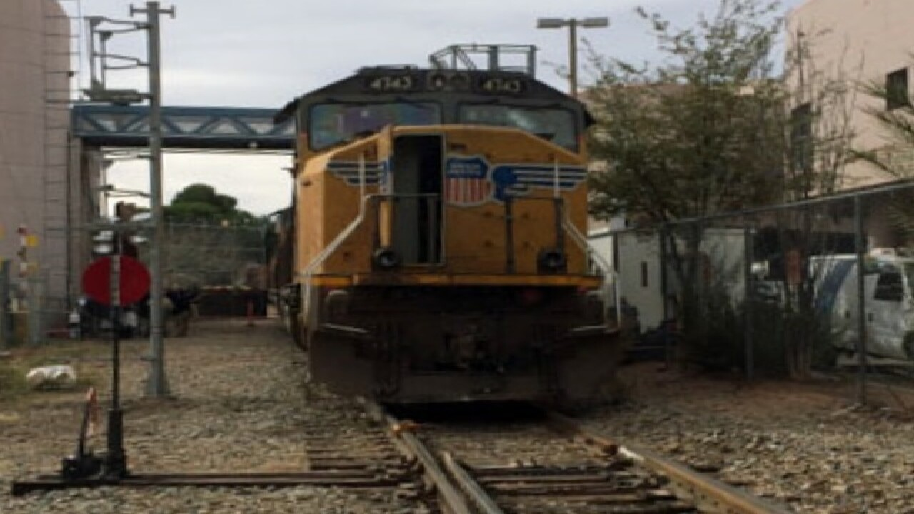 Runaway train stopped after officer jumps on