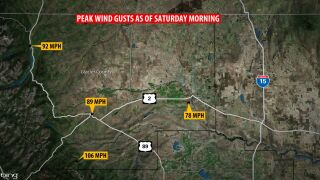 Strong winds rocking parts of Montana