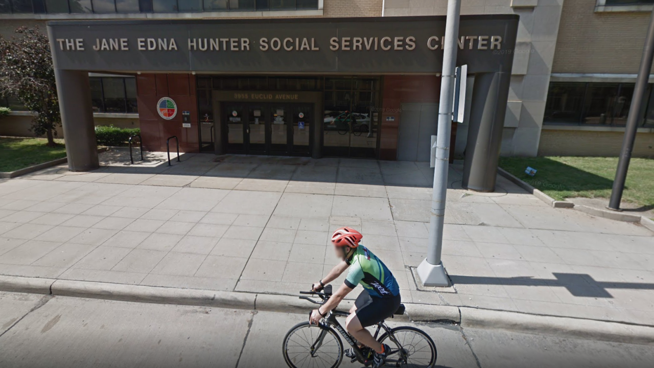 The Jane Edna Hunter Social Services Center on Euclid Avenue.