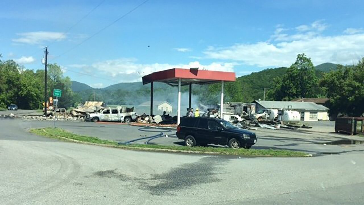 Three sets of human remains found after Virginia gas station explosion