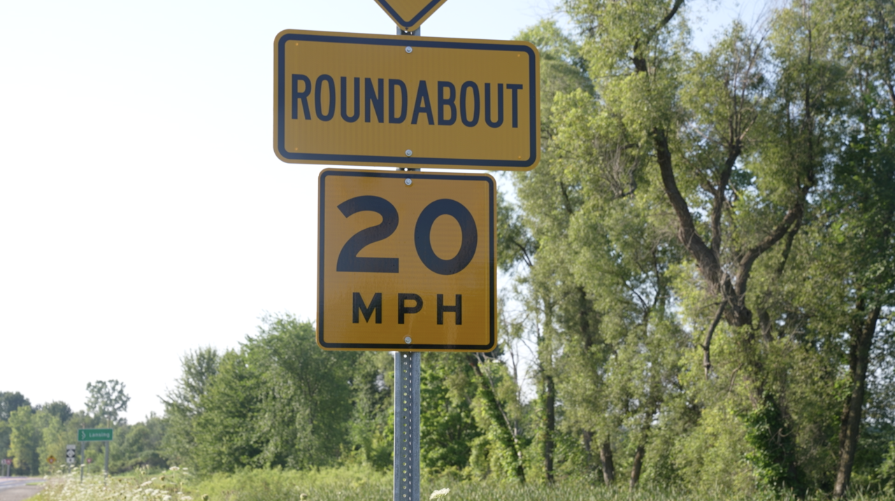 Roundabout in Grand Ledge
