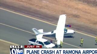 One person injured during hard landing at Ramona Airport