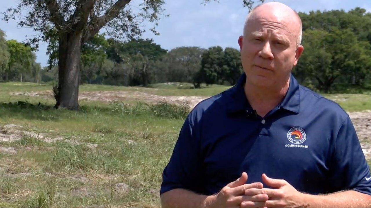 Boca Raton Beach and Parks District Commissioner Craig Ehrnst speaks about the Ocean Breeze property
