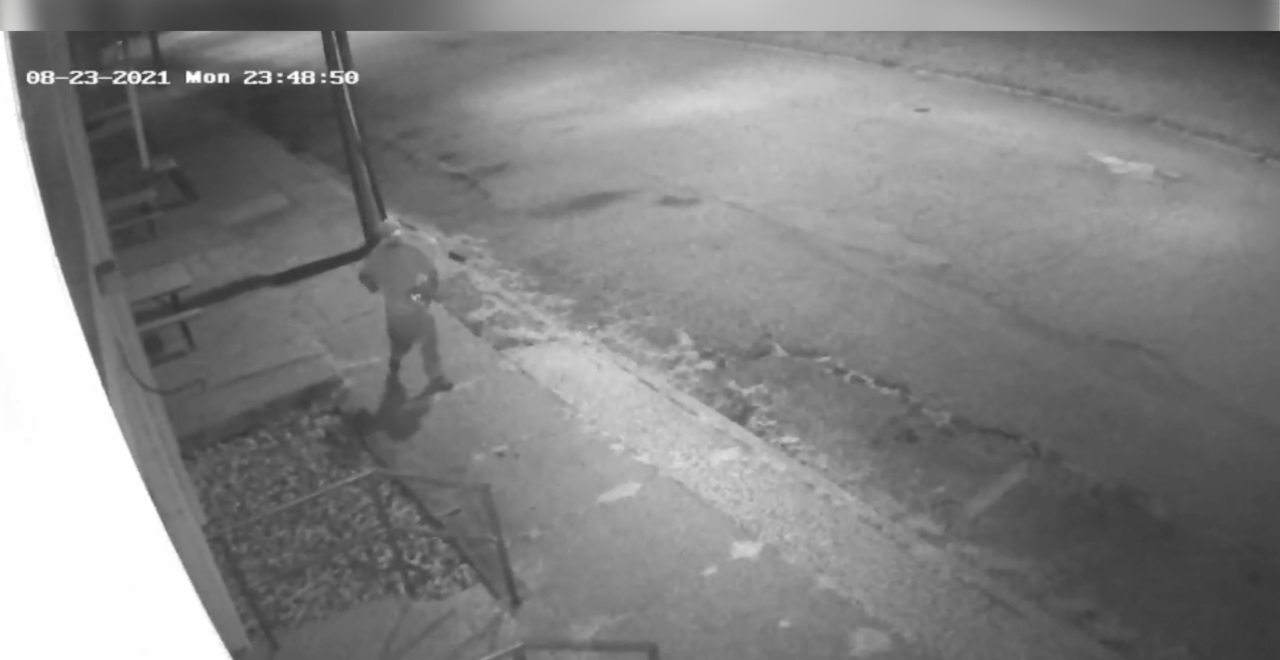 Video footage of the suspect