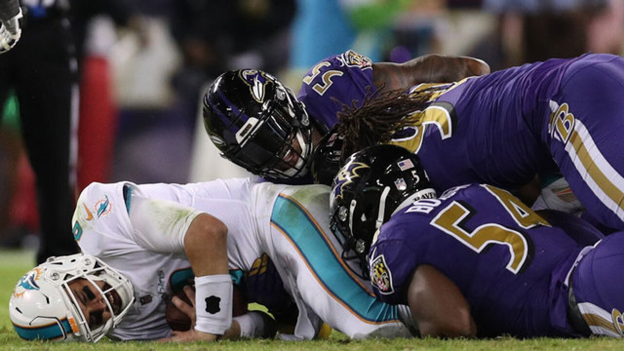 Dolphins crushed by Ravens 40-0