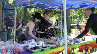 Mason's first pride event was a picnic