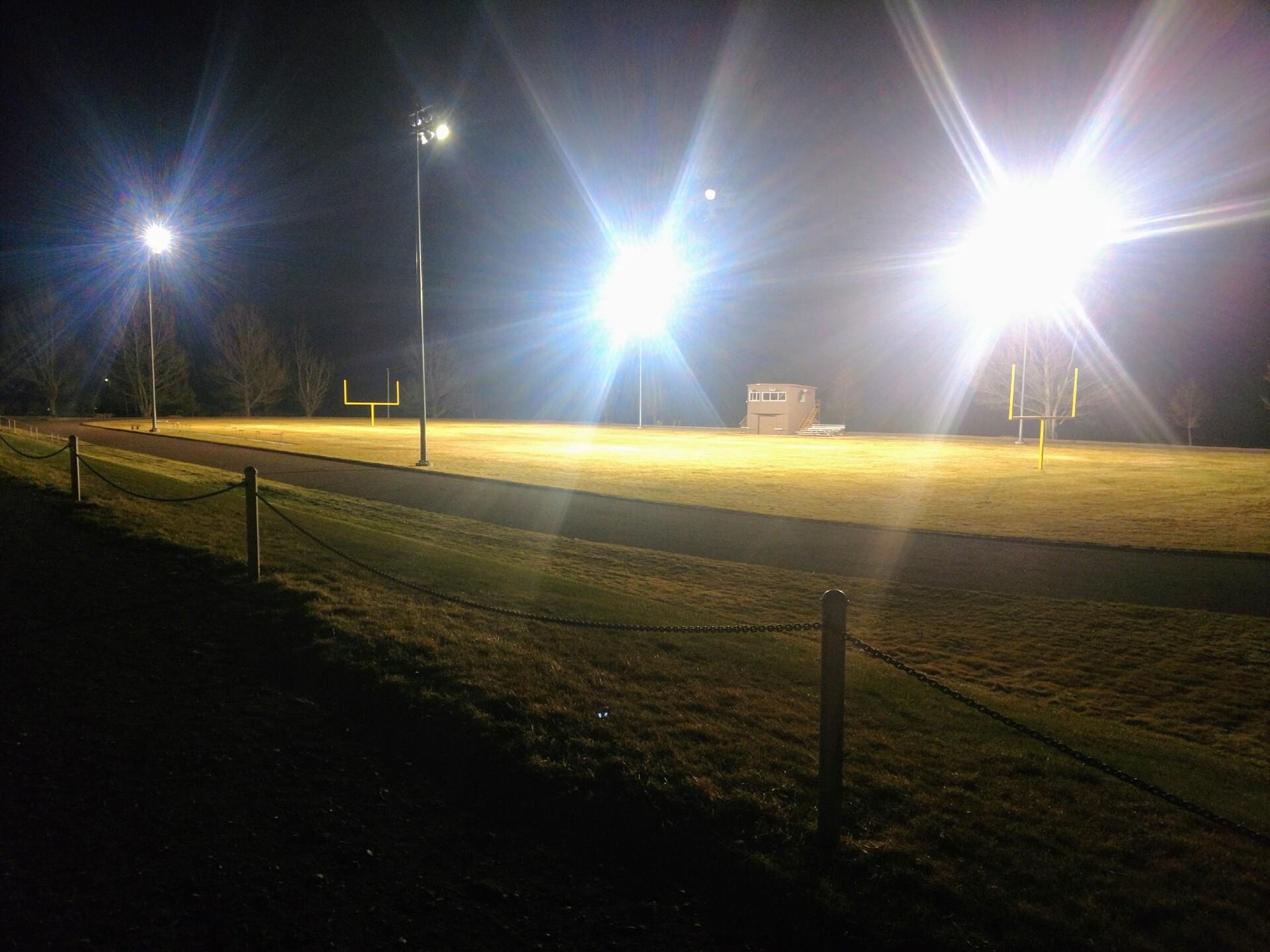 Highwood football stadium lights