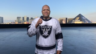Carnell 'Golden Pipes' Johnson sang the national anthem for Monday's historic Raider home opener