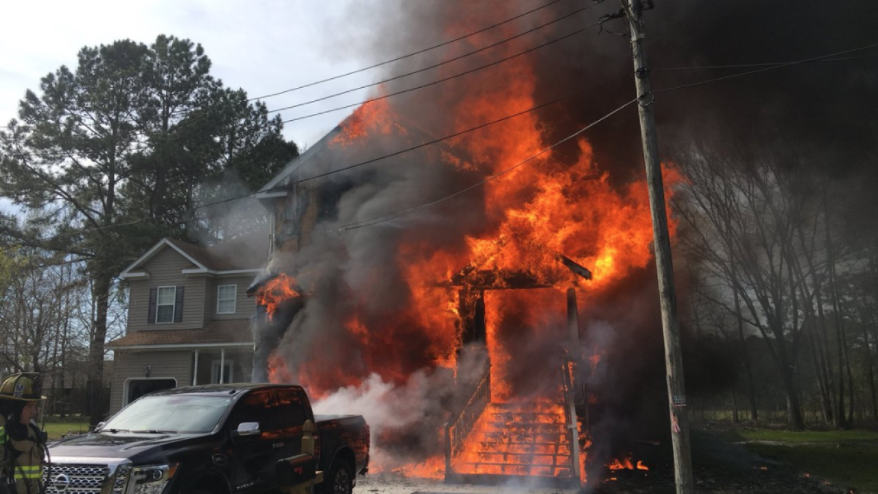 Family of four displaced after Chesapeake house fire