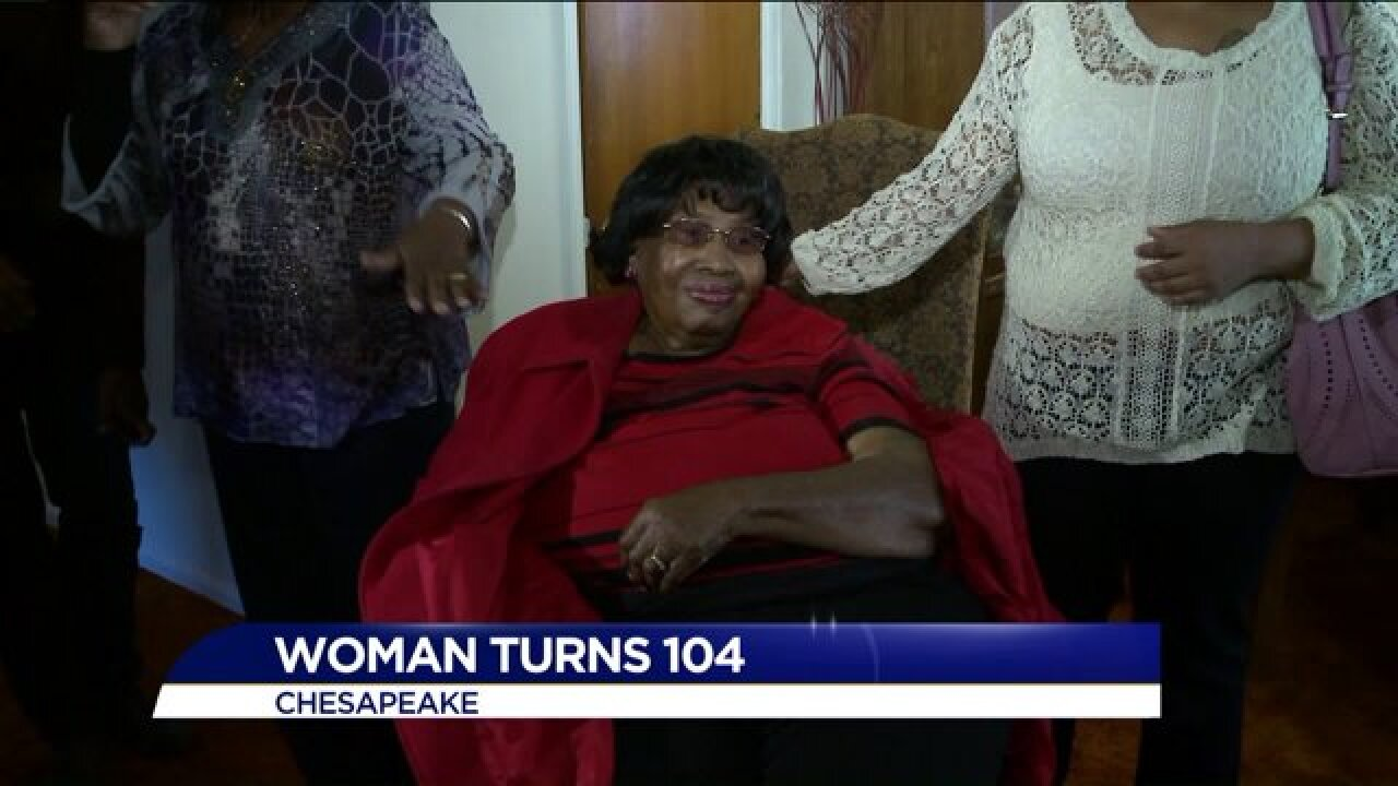 Chesapeake woman celebrates 104th birthday