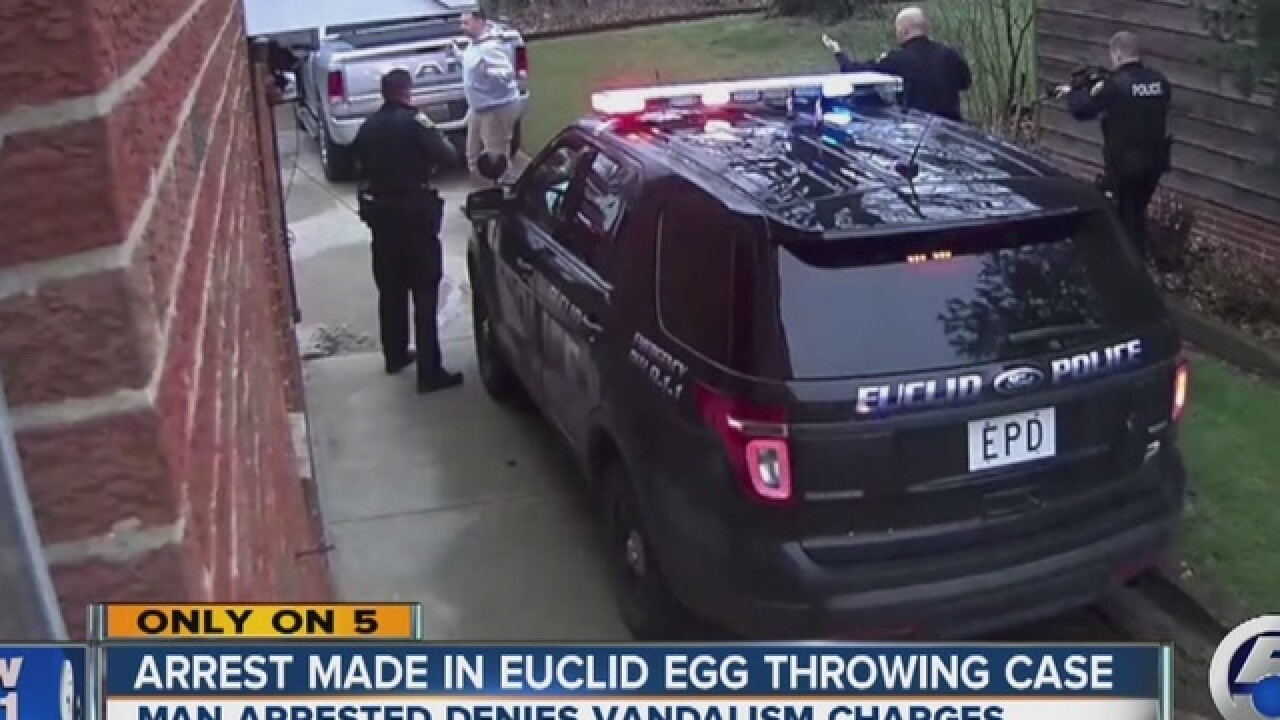 Man arrested in bizarre egg-throwing case