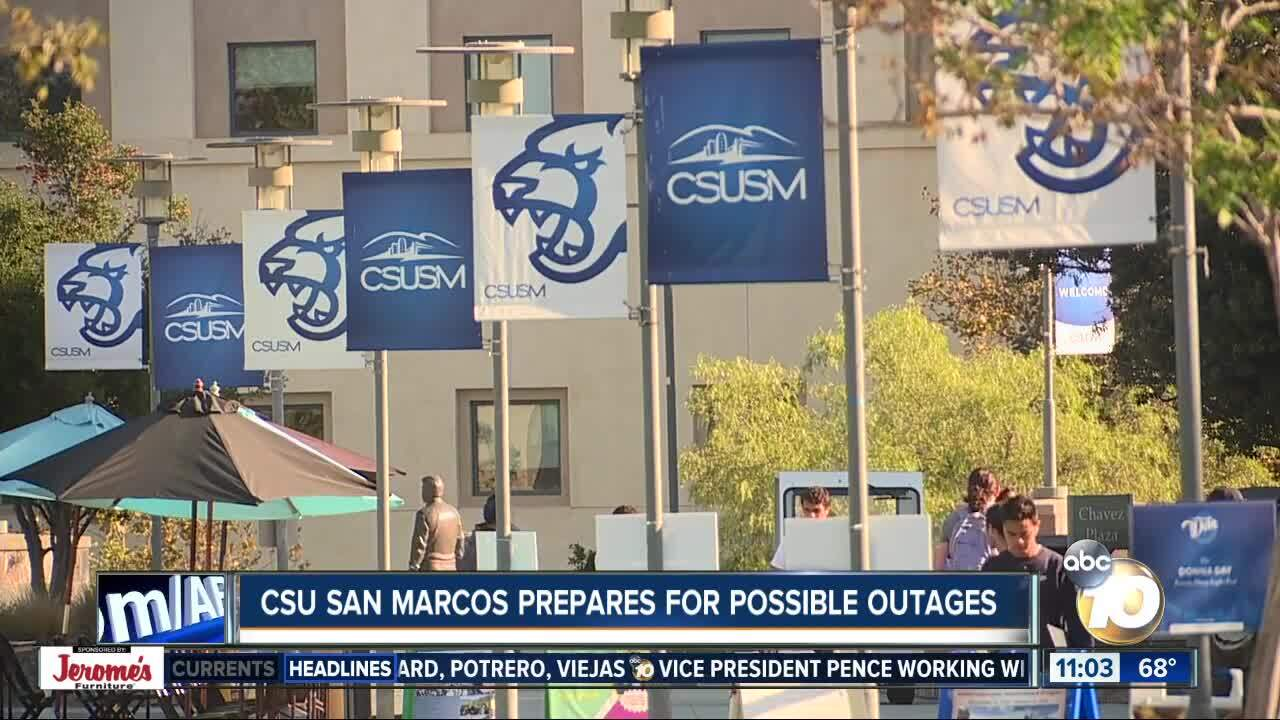 CSU San Marcos prepares for possible outages