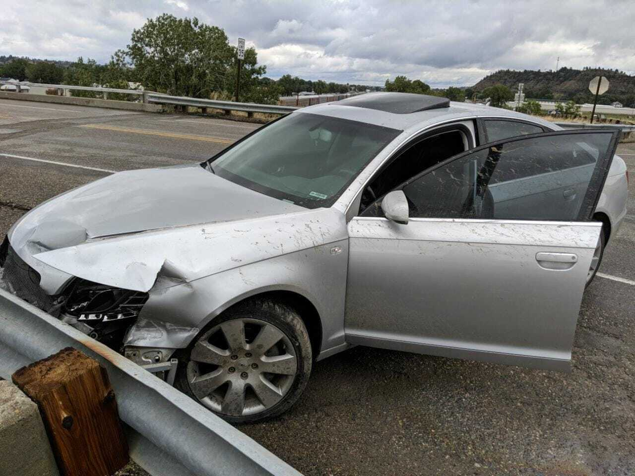 Crashed Audi Rosebud Co Sheriff's office.jpg