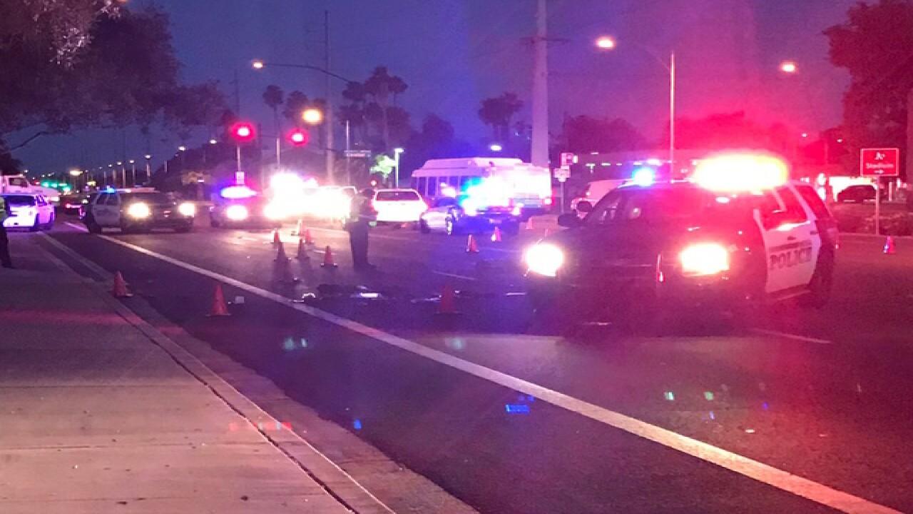 Pedestrian killed in Mesa crash