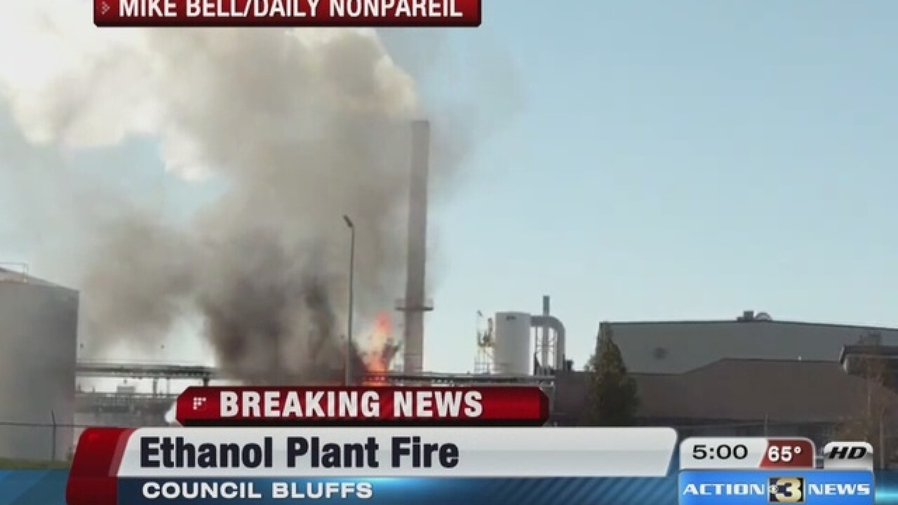 Man injured in Council Bluffs ethanol plant fire dies