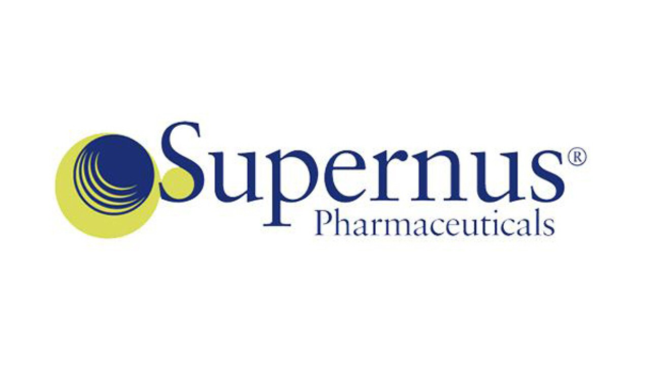Supernus Pharmaceuticals relocating to Gaithersburg
