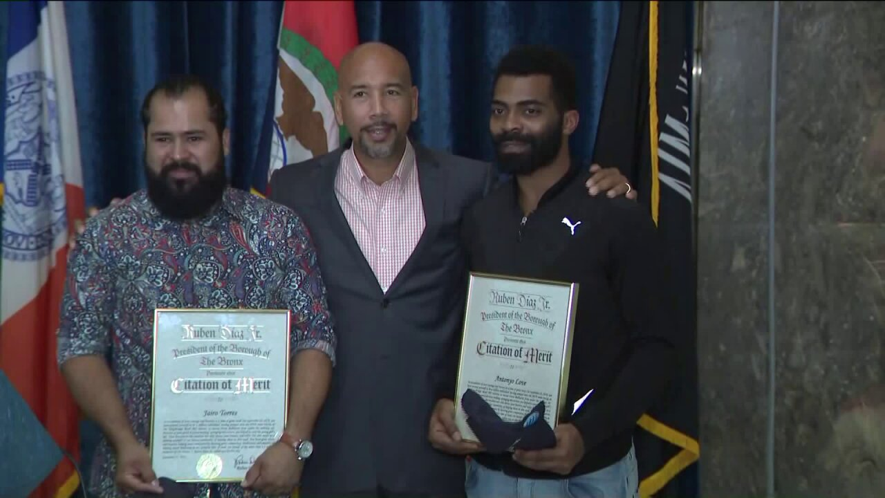Good Samaritans who saved 5-year-old girl from under subway train honored