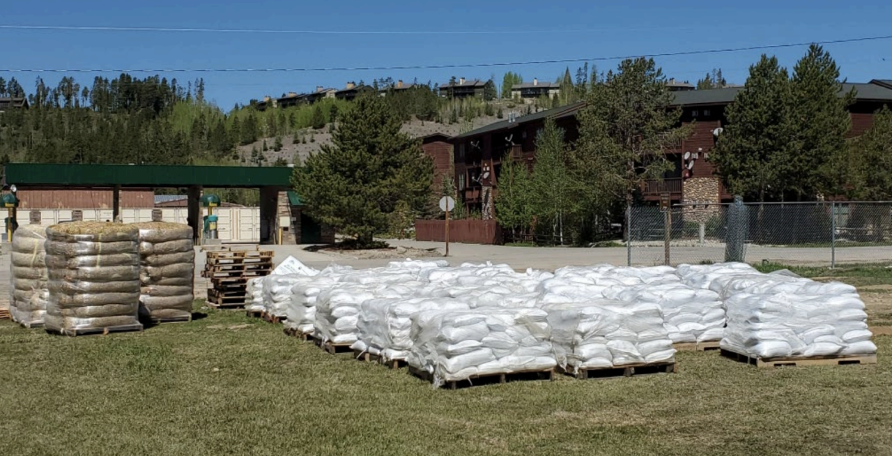 Grand Lake sand bags