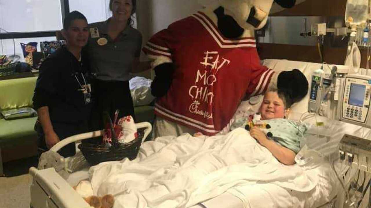 Chick-fil-A on a Sunday? An exception was made for this child with a brain tumor