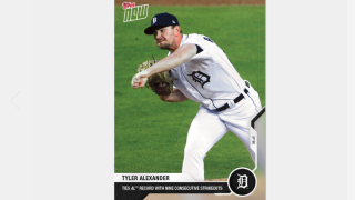 Tigers pitcher Tyler Alexander's 10-strikeout performance gets a Topps Now card