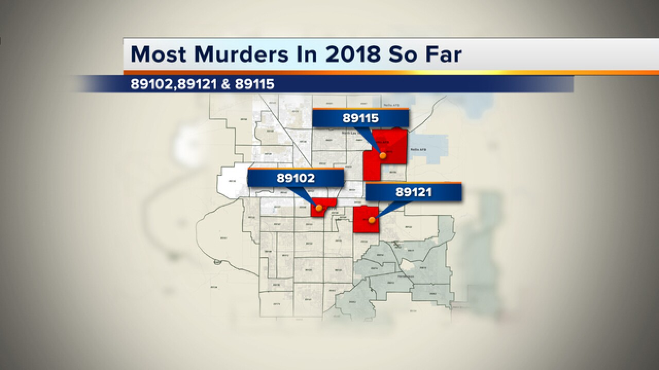 Where are murders occurring in Las Vegas? Murders up for ...