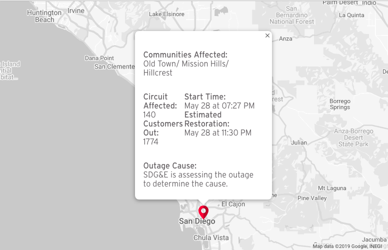 SDG&E: Hillcrest, Old Town outages caused by mylar balloon on