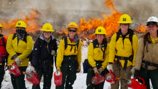 Montana women's fire crew returns from 1st assignment in Alaska