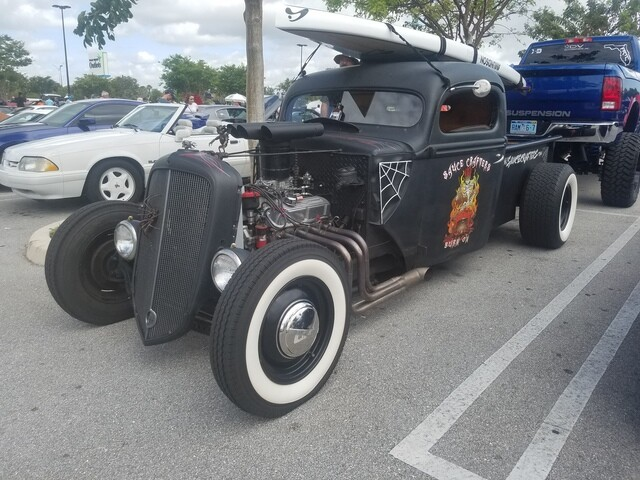 Unique rides from Cars & Coffee event at the Palm Beach Outlets