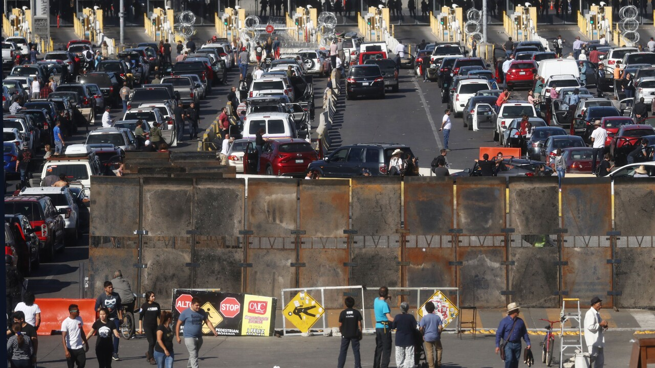 After touring port of entry in California, Democrats say there is no border crisis