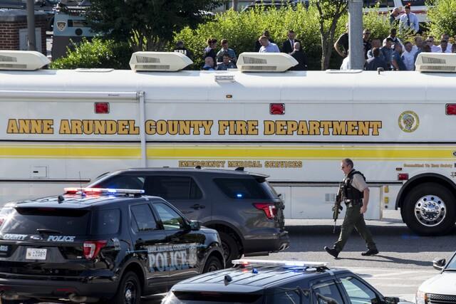 Photos: Gunman opens fire on Maryland newspaper office
