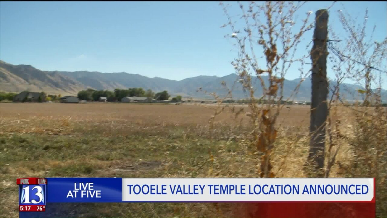 Latter-day Saint leaders announce location for Tooele Valley Temple