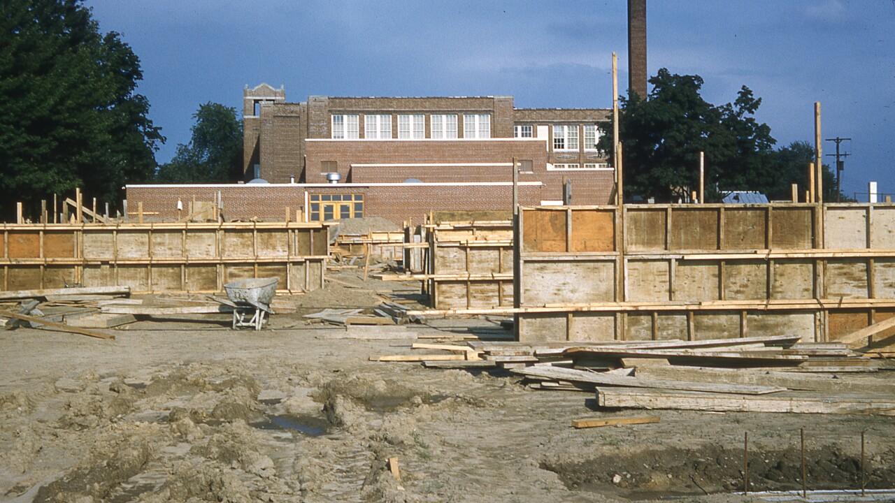 Elementary School Construction in Dansville in 1960
