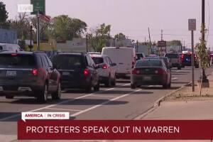 Protesters speak out in Warren