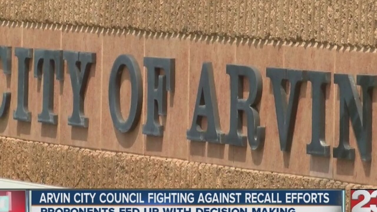 arvin city council fighting against recall