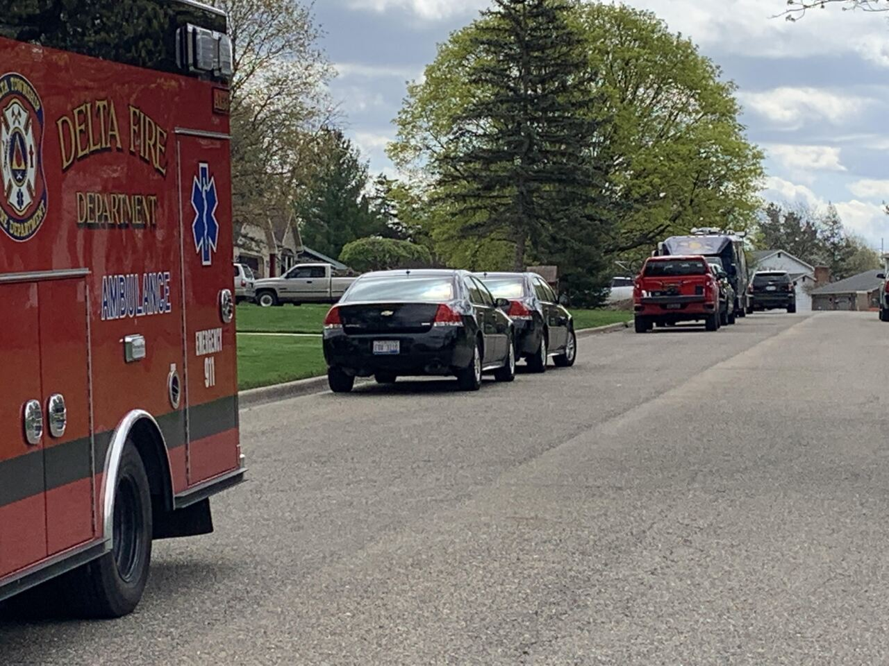 Crews are on the scene in Delta Twp.