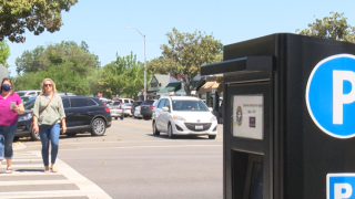 The City installed new parking pay stations on each block.