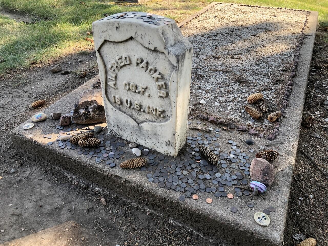 Alferd Packer's grave at Littleton Cemetery