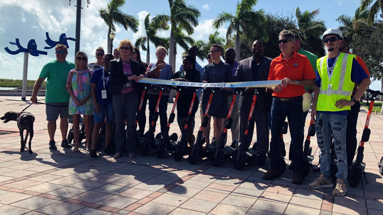 Fort Pierce launches electric scooter share program on Sept. 12, 2019.