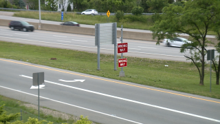 Wrong Way signs on exit ramps