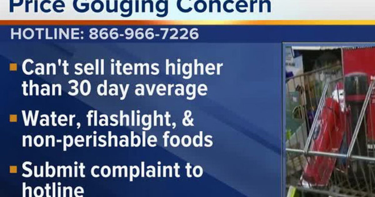 Florida activates price gouging hotline, when to file a