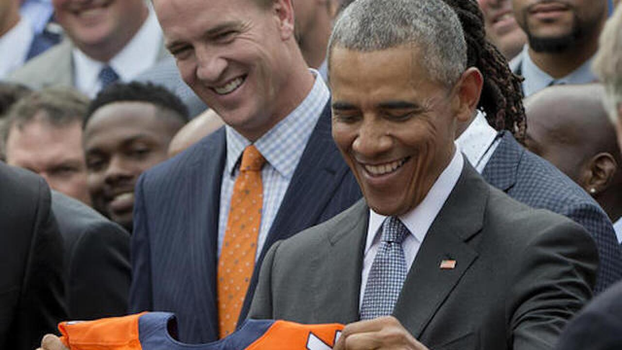 Super Bowl champ Broncos visit White House